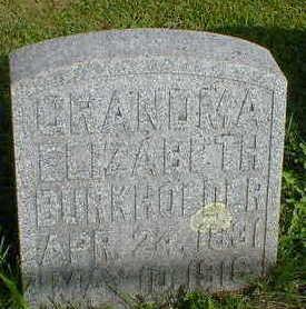 BURKHOLDER, ELIZABETH - Cerro Gordo County, Iowa | ELIZABETH BURKHOLDER