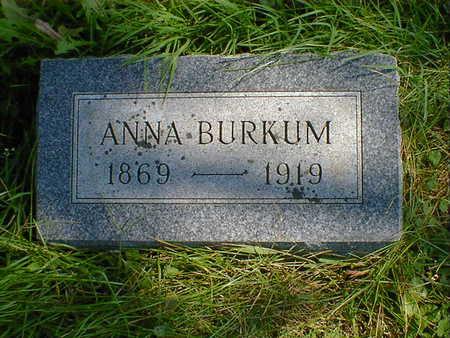 BURKUM, ANNA - Cerro Gordo County, Iowa | ANNA BURKUM