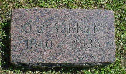 BURKUM, O. J. - Cerro Gordo County, Iowa | O. J. BURKUM