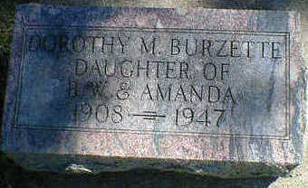 BURZETTE, DOROTHY M. - Cerro Gordo County, Iowa | DOROTHY M. BURZETTE