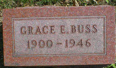 BUSS, GRACE EVANGELINE MARY - Cerro Gordo County, Iowa | GRACE EVANGELINE MARY BUSS