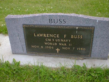 BUSS, LAWRENCE F. - Cerro Gordo County, Iowa   LAWRENCE F. BUSS