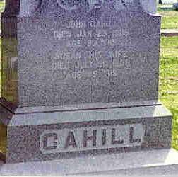 CAHILL, SUSAN - Cerro Gordo County, Iowa   SUSAN CAHILL