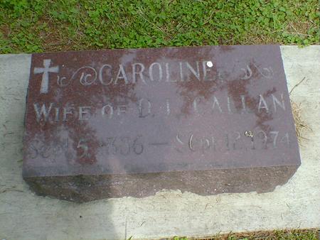 CALLAN, CAROLINE - Cerro Gordo County, Iowa | CAROLINE CALLAN