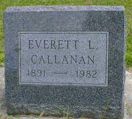 CALLANAN, EVERETT L. - Cerro Gordo County, Iowa   EVERETT L. CALLANAN