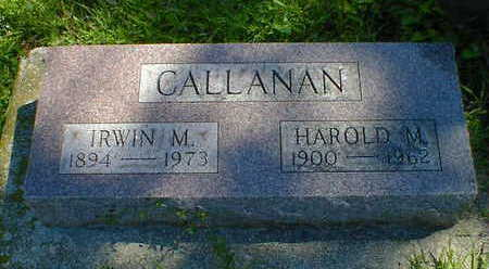 CALLANAN, HAROLD M. - Cerro Gordo County, Iowa | HAROLD M. CALLANAN
