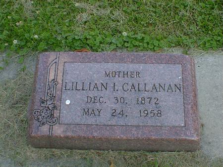 CALLANAN, LILLIAN I. - Cerro Gordo County, Iowa   LILLIAN I. CALLANAN