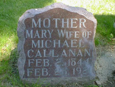 CALLANAN, MARY - Cerro Gordo County, Iowa | MARY CALLANAN