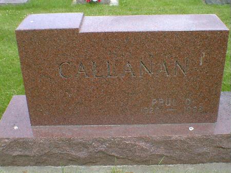 CALLANAN, PAUL D. - Cerro Gordo County, Iowa | PAUL D. CALLANAN