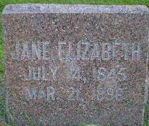 CAMERON, JANE ELIZABETH - Cerro Gordo County, Iowa   JANE ELIZABETH CAMERON