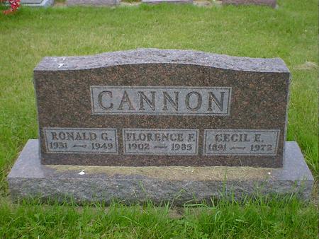 CANNON, RONALD G. - Cerro Gordo County, Iowa | RONALD G. CANNON