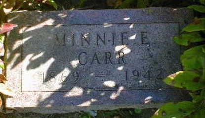 CARR, MINNIE E. - Cerro Gordo County, Iowa | MINNIE E. CARR