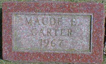CARTER, MAUDE E. - Cerro Gordo County, Iowa | MAUDE E. CARTER