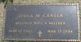 CARTER, ZELLA M. - Cerro Gordo County, Iowa   ZELLA M. CARTER