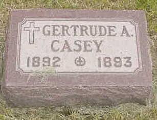 CASEY, GERTRUDE A. - Cerro Gordo County, Iowa   GERTRUDE A. CASEY
