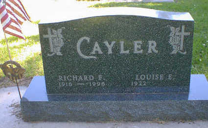 CAYLER, RICHARD F. - Cerro Gordo County, Iowa   RICHARD F. CAYLER