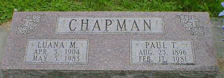CHAPMAN, PAUL T. - Cerro Gordo County, Iowa | PAUL T. CHAPMAN