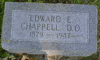 CHAPPELL, EDWARD E. - Cerro Gordo County, Iowa   EDWARD E. CHAPPELL