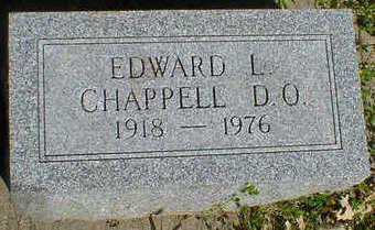 CHAPPELL, EDWARD L. - Cerro Gordo County, Iowa   EDWARD L. CHAPPELL