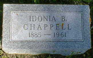 CHAPPELL, IDONIA B. - Cerro Gordo County, Iowa   IDONIA B. CHAPPELL
