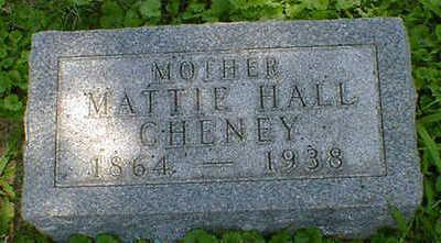 HALL CHENEY, MATTIE - Cerro Gordo County, Iowa   MATTIE HALL CHENEY