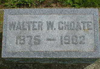CHOATE, WALTER W. - Cerro Gordo County, Iowa | WALTER W. CHOATE