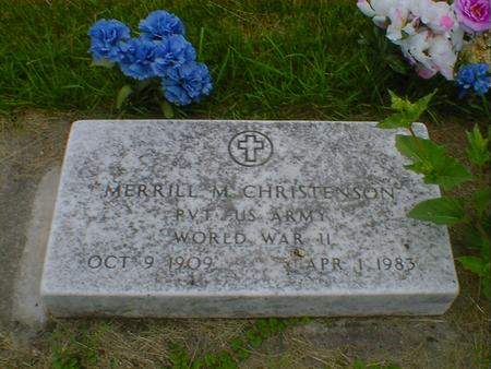 CHRISTENSON, MERRILL M. - Cerro Gordo County, Iowa | MERRILL M. CHRISTENSON