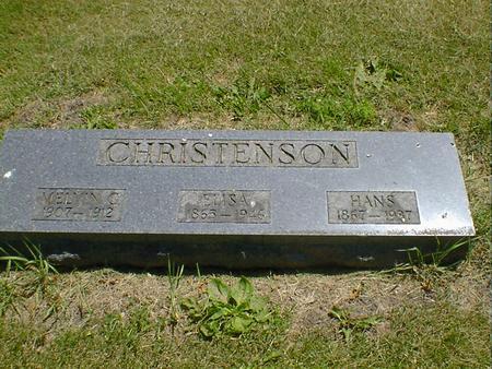 CHRISTENSON, ELISA - Cerro Gordo County, Iowa | ELISA CHRISTENSON