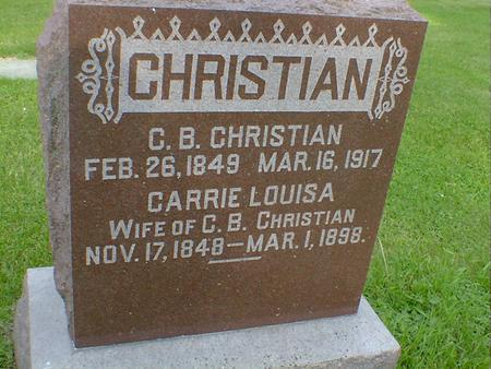 CHRISTIAN, CARRIE LOUISE - Cerro Gordo County, Iowa   CARRIE LOUISE CHRISTIAN