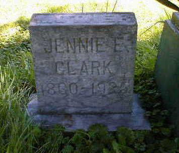 CLARK, JENNIE E. - Cerro Gordo County, Iowa   JENNIE E. CLARK