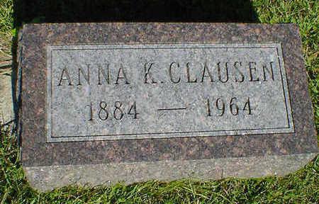 CLAUSEN, ANNA K. - Cerro Gordo County, Iowa   ANNA K. CLAUSEN