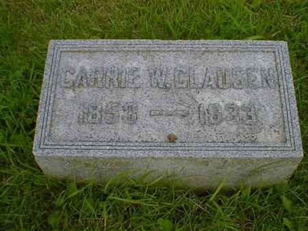 CLAUSEN, CARRIE W. - Cerro Gordo County, Iowa | CARRIE W. CLAUSEN