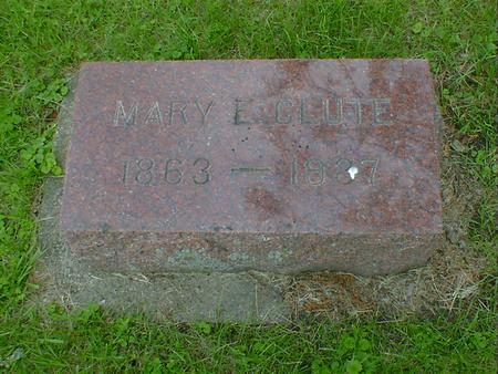 CLUTE, MARY E. - Cerro Gordo County, Iowa | MARY E. CLUTE