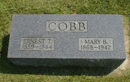 COBB, MARY B. - Cerro Gordo County, Iowa   MARY B. COBB