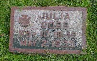 COBB, JULIA - Cerro Gordo County, Iowa   JULIA COBB