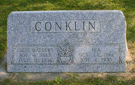 CONKLIN, IRA - Cerro Gordo County, Iowa | IRA CONKLIN