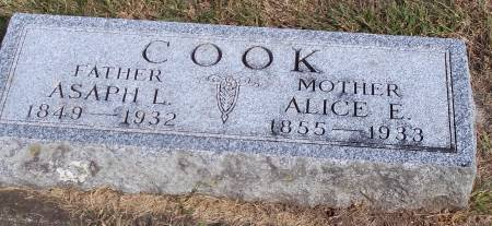 COOK, ASAPH L. - Cerro Gordo County, Iowa   ASAPH L. COOK