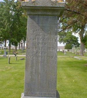 COOLEY, ALICE M. - Cerro Gordo County, Iowa   ALICE M. COOLEY