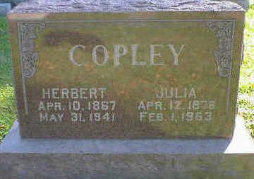 COPLEY, JULIA - Cerro Gordo County, Iowa | JULIA COPLEY