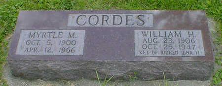 CORDES, WILLIAM H. - Cerro Gordo County, Iowa | WILLIAM H. CORDES