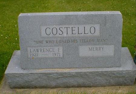 COSTELLO, LAWRENCE F. - Cerro Gordo County, Iowa | LAWRENCE F. COSTELLO