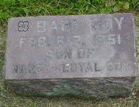 COX, BABY BOY - Cerro Gordo County, Iowa   BABY BOY COX