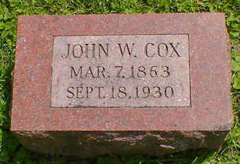 COX, JOHN W. - Cerro Gordo County, Iowa | JOHN W. COX