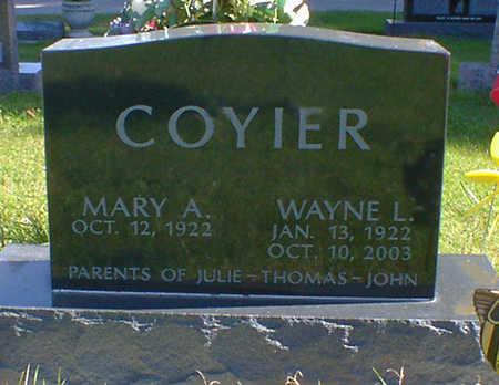 COYIER, WAYNE L. - Cerro Gordo County, Iowa | WAYNE L. COYIER