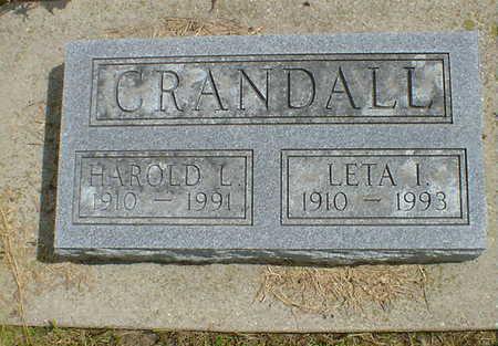 CRANDALL, LETA I. - Cerro Gordo County, Iowa   LETA I. CRANDALL