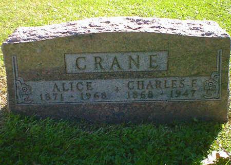 CRANE, ALICE - Cerro Gordo County, Iowa   ALICE CRANE