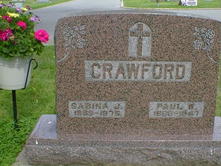 CRAWFORD, SABINA J. - Cerro Gordo County, Iowa | SABINA J. CRAWFORD