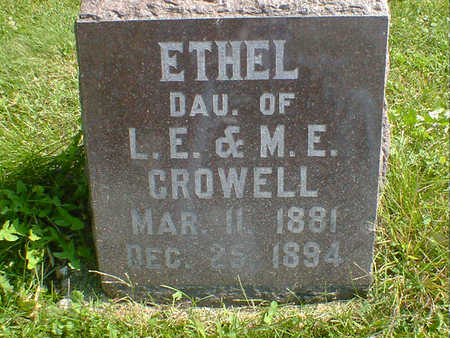CROWELL, ETHEL - Cerro Gordo County, Iowa   ETHEL CROWELL