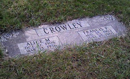 CROWLEY, ALICE - Cerro Gordo County, Iowa | ALICE CROWLEY
