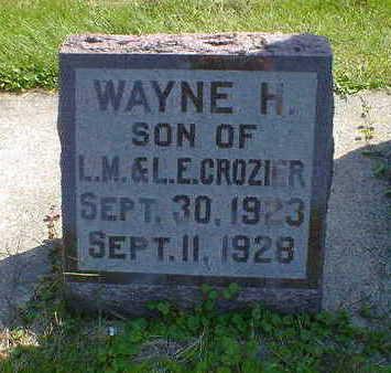 CROZIER, WAYNE H. - Cerro Gordo County, Iowa | WAYNE H. CROZIER